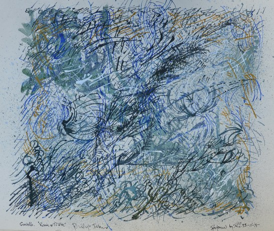 rRain and Ti-Tree 1975 mixed media on paper