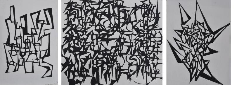 """Linear Extensions"" compressed charcoal o paper 1987. earning to embue the line with character - to draw the line."
