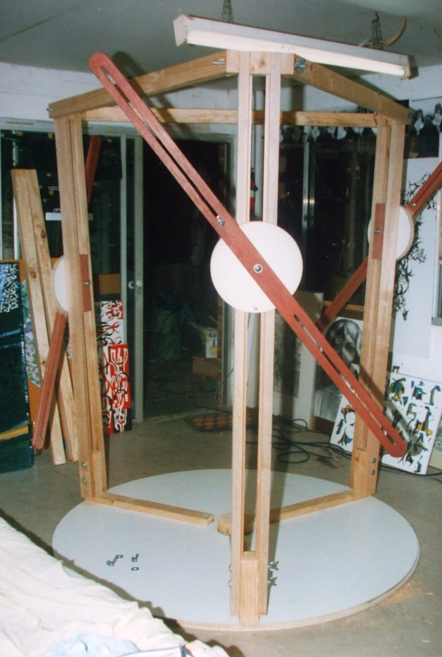 """The first """"Tri-Easel"""" constructed in January 1988"""