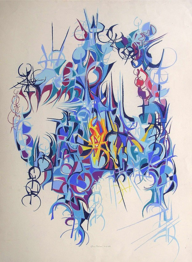 """Crystal Light"" 1989 80 x 60 cm Pastel on paper"