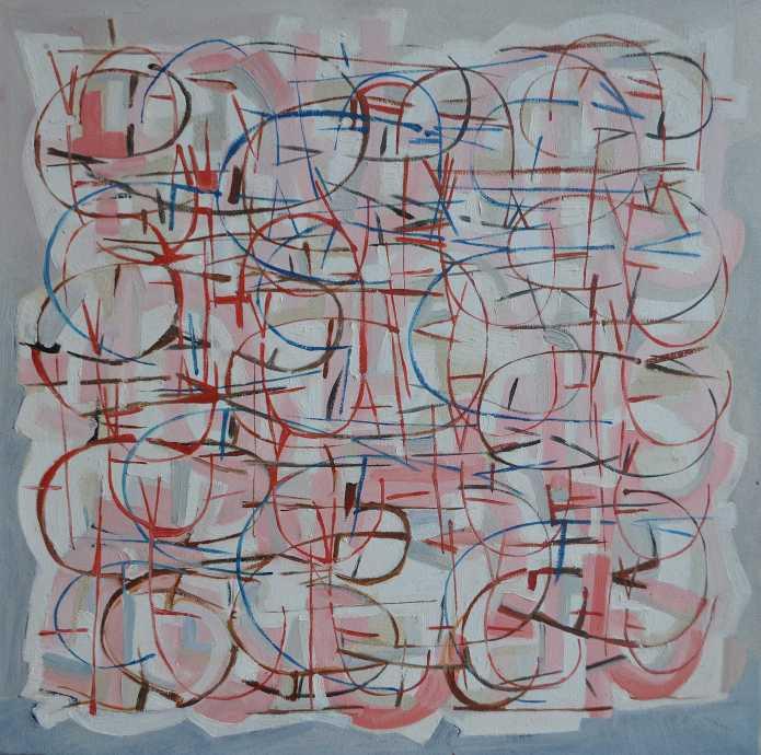 """White Piece"" 1986 Peter Graham oil on canvas 60 x 60 cm"