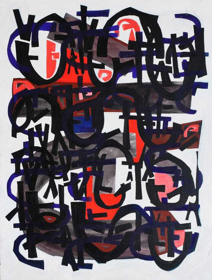 """Black Piece 2"" Peter Graham 1986 oil on canvas  100 x 80 cm"