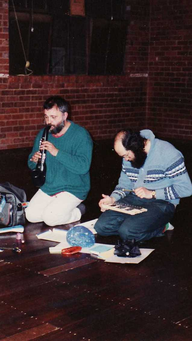 Al Wonder and performing at The People's Improvisational Theatre  in Richmond Melbourne 25/8/1990