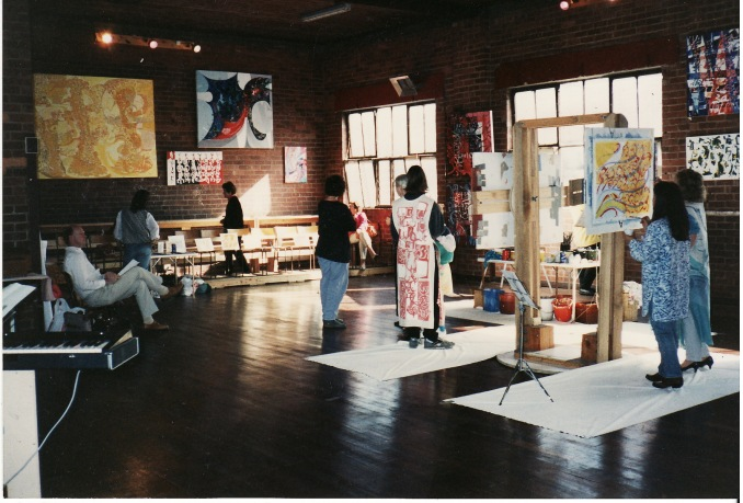"""Performance at the """"P.I.T"""" in conjunction with the Melbourne fringe festival 9/9/1990"""
