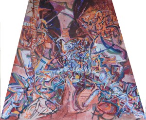 """Drop Sheet"" Jazz collaboration 1992 Acrylic on canvas"