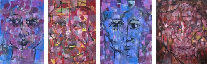 """Soliloquy"" works on paper and canvas from 1992"