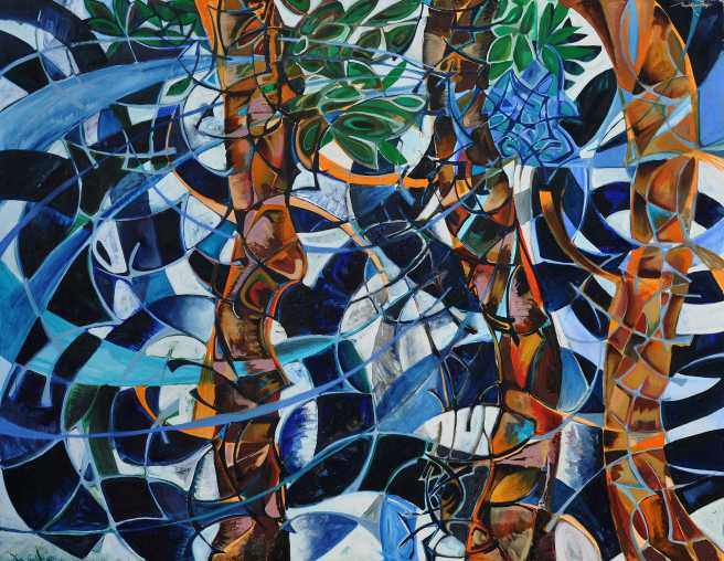 """Wild Night"" Euan Grahan 1991 oil on canvas 170 x 200 cm"