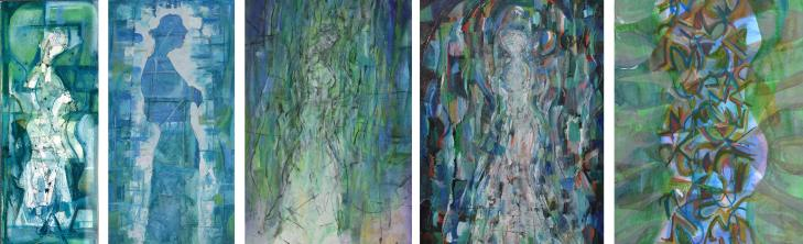 """Water Spirit"" Euan Graham 1992 works on paper and canvas"